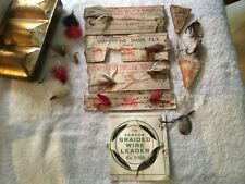 Vintage Superior Pennell bass trout Fly Fishing Lures group lot Pflueger 2