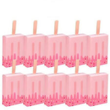 50x pink Ice cream Gift Bag Candy Box Garden Wedding Party Favors Boxes Cookie