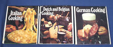 Round the World Cooking Library Dutch and Belgium German Italian 3 Cook Books