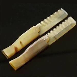 Pocket Yak Horn Comb Foldable Hair Beard Moustache Clip Dressup Hairstyle Unisex