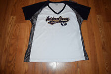 NWT Womens KNIGHTS Apparel BYU Brigham Young Cougars White Navy NCAA Shirt XL