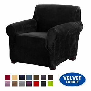 Super Soft Velvet Elastic Cover For Armchair Stretch Sofa Living Room Couch New