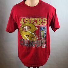 San Francisco 49ers Red T-Shirt Team Apparel Tag Size Medium