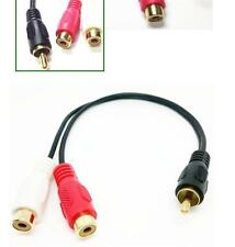 RCA Male Plug to 2 RCA Female Jack Y Splitter Audio Video AV Adapter Cable