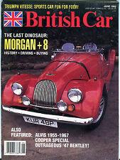 British Car Magazine June 1992 Morgan+8 Alvis 1955-1967 EX 012916jhe