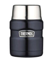 Thermos Stainless King 16 Ounce Food Jar with Folding Spoon, Midnight Blue NEW