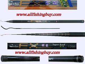 40' 12m Telescopic Fishing Pole Rod 99% Carbon Very Sensitive Flexible Brand New