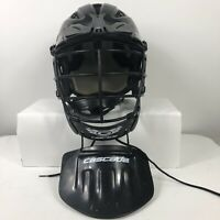 Cascade SPR Fit SCH2 Adult S/M Adjustable Lacrosse Helmet and Throat Guard Black