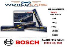 KIT 4 CANDELETTE BOSCH FIAT GRANDE PUNTO 500 PANDA  1.3 MULTIJET MJT 0250203002