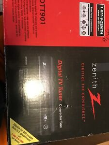 Used Zenith DTT901 Digital TV Tuner Converter Box W/ Cable