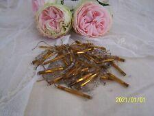 Lot de perles anciennes pour broderie /confection bijoux. Or, transparent. N°43