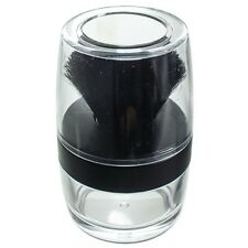 Kabuki Black Brush Sifter Jar - Empty Refill Travel Jar with Mirror Top