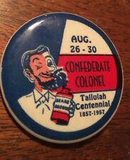 Confederate Colonel Talluiah Centennial 1857-1957 Beard Monroe Louisiana Pin
