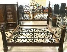 Traditional Iron Gate & Poster King Bed Lot 2325