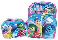 "Disney Inside Out Large 16"" Backpack and Lunch Bag Set  Blue New!!"