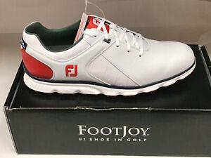 NEW FootJoy Pro SL 53243 White/Red WATERPROOF Men's Golf Shoes 10M Were $160