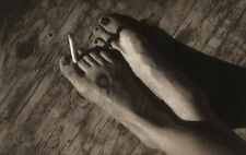 Tom Millea Study of Feet with Cigarette, 5x7 Signed Platinum Photograph