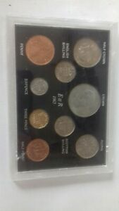 Farewell to the £sd System Pre-Decimal Old Money 9 Coin (BU UNC) Cased ER 1965.