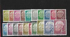 GERMANY SG1103/22, 1954-60 HEUSS TO 3dm WITH ORIGINAL WMKS MNH, CAT £400