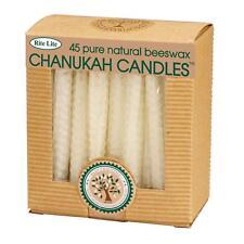 "Rite Lite 45ct Eco-Friendly Natural Beeswax Chanukah Hanukkah Menorah Candles 4"""