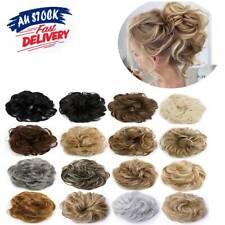 Women Natural Messy Bun Scrunchie Hair Piece Curly Chignon Updo Hair Extension