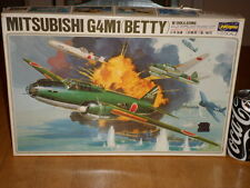 WW#2, JAPAN- MITSUBISHI G4M1 (BETTY) BOMBER + OHKA BOMB, Plastic Model Kit, 1/72