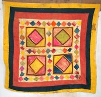 Old Vintage Indian Tribal Hand Patch Work Cotton Tapestry Ethnic Wall Decor