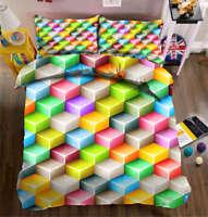Stereo Diamonds 3D Printing Duvet Quilt Doona Covers Pillow Case Bedding Sets