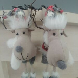 JOBLOT for RESALE Mr & Mrs REINDEER hanging shelf CHRISTMAS DECORATIONS NEW 40cm