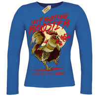 Funny Fighting Rooster T-Shirt ladies long sleeve