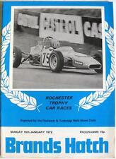 Brands Hatch 16th Gen 1972 Rochester Trophy MOTOR RACING PROGRAMMA UFFICIALE