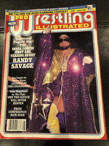Pro Wrestling Illustrated August 1986 - Year In Review - Wrestling Vintage WWF