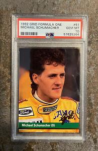 1992 Grid Formula One 1 MICHAEL SCHUMACHER Rookie RC 🔥PSA 10 GEM MTLow Pop🔥