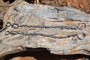 "10"" Twisted Spiral Link Bit Rein Chains - Stainless Steel"