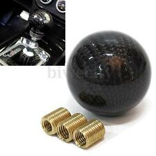 Black Carbon Fiber 5 6 Speed MT Shift Knob Fit Manual Transmission Gear Shifter