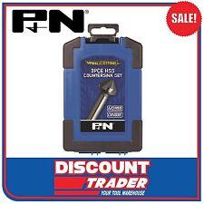 P&N Workshop by Sutton Tools 3Pc High Speed Steel HSS Countersink Set 107CS0003
