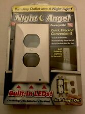 Night Angel LED Light Wall Outlet Face Plate Plug Cover - White