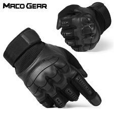 Touch Screen Hard Knuckle Tactical Gloves PU Leather Army Military Combat
