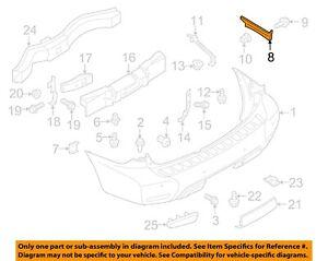 NISSAN OEM Rear Bumper-Upper Bracket Left 852211LA0A