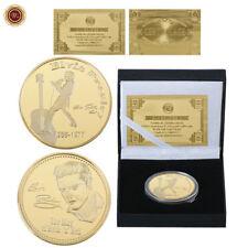 WR Elvis Presley 1935-1977 El Rey del Rock 'n' Roll 24k Moneda de oro en caja
