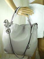 NEW Michael Kors Pearl Grey Jet Set Chain Shoulder Tote Leather Goodtreasures123