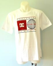 DC Shoes Boys Printed T Shirt - WHITE - SIZES - 10, 14 & 16 YEARS - NEW