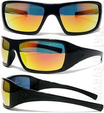 Pyramex Goliath Black Ice Orange Mirror Lens Safety Glasses Sunglasses Z87.1