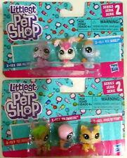 Littlest Pet Shop Series 2 (2 pk-3 ) Seacolt Tex Swansong Kittyson Cara
