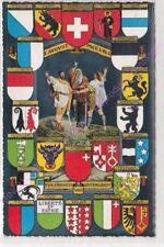 CPSM SUISSE SCWEIZER SWITZERLAND BLASONS CANTONS Edt WEHRLI ca1962
