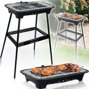 ALPINA ® 2IN1 Elektrogrill 2000W BBQ Stand Tisch Grill Elektrisch Garten Balkon