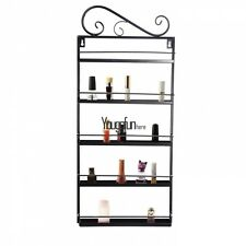 Nail Polish Rack Wall Hang Organizer Holds 50 Bottles Nail Polish Shelf Black