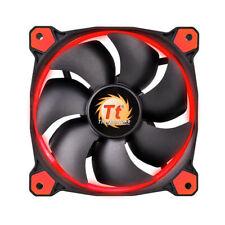 Thermaltake 120MM 1500 t/mn LED rouge ventilateur à 3 broches - noir, rouge