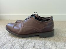 Men's Clarks Brown Leather Shoes UK 8.5 Rubber Sole