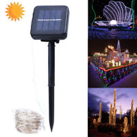 20m 200LED Solar Power Copper Wire String Fairy Light Wedding Xmas Party Lamp